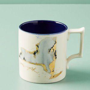 Anthropologie Whitney Winkler New York State Mug